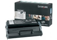 Lex12a7400     Lexmark E321 Black Toner       Return Print Cartridge                                       - UF01