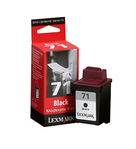 Lex15mx971e    Lexmark #71 Black Inkjet       Cartridge Moderate Use                                       - UF01