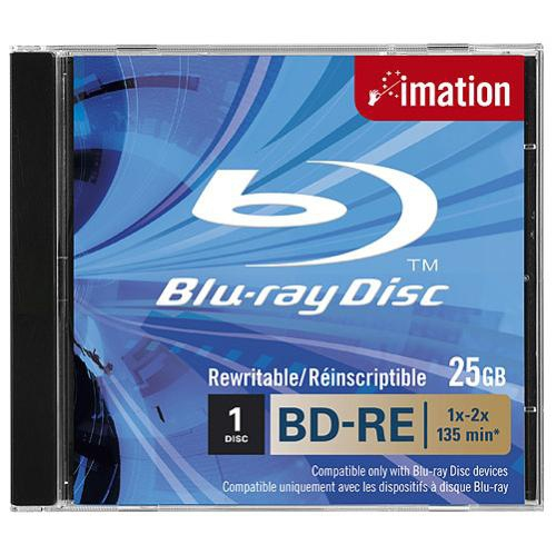 Mmm26165       Imation Bluray Recordable 25gb Bd-re Sl 1pk Jewel                                           - UF01