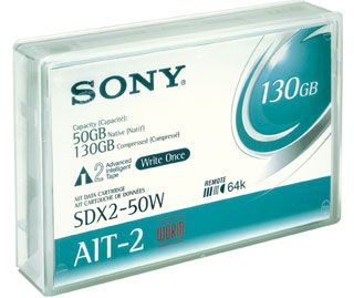 Sny26141       Sony Ait2 50/130gb Write Once  Sony Ait 2 50gb Ait (with Chip) Write Once Only              - UF01