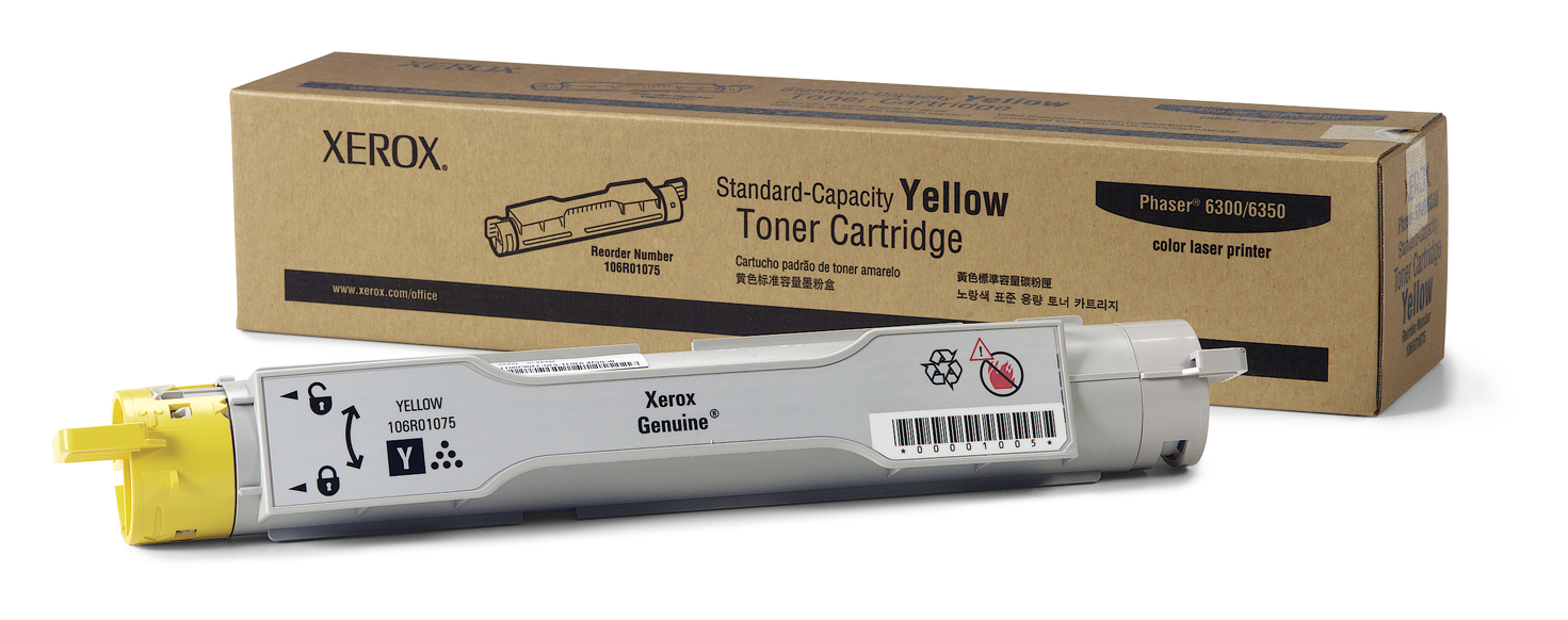 Xer106r01075   Xer Phaser 6300/6350 Yellow    Xerox                                                        - UF01