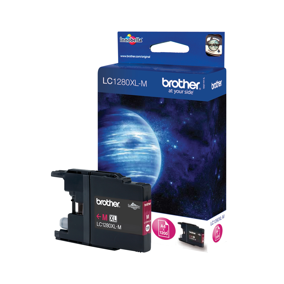 Lc1280xlm brother Lc1280xl Magenta High Yld Ink 1.2k - AD01