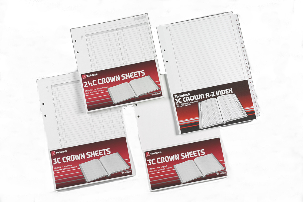 75841 acco Twinlock Crown Sheets Double Ledger Size 3c 100 Sheets 75841 - AD01