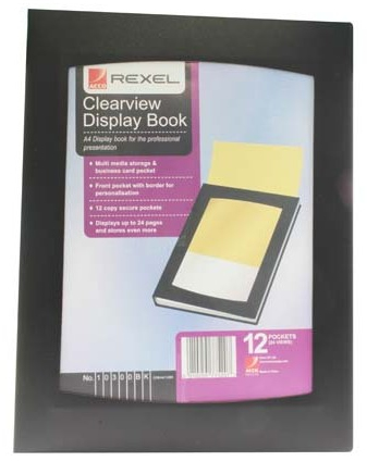 10300bk acco Rexel Clearview Display Book 12 Pockets A4 Black 10300bk - AD01