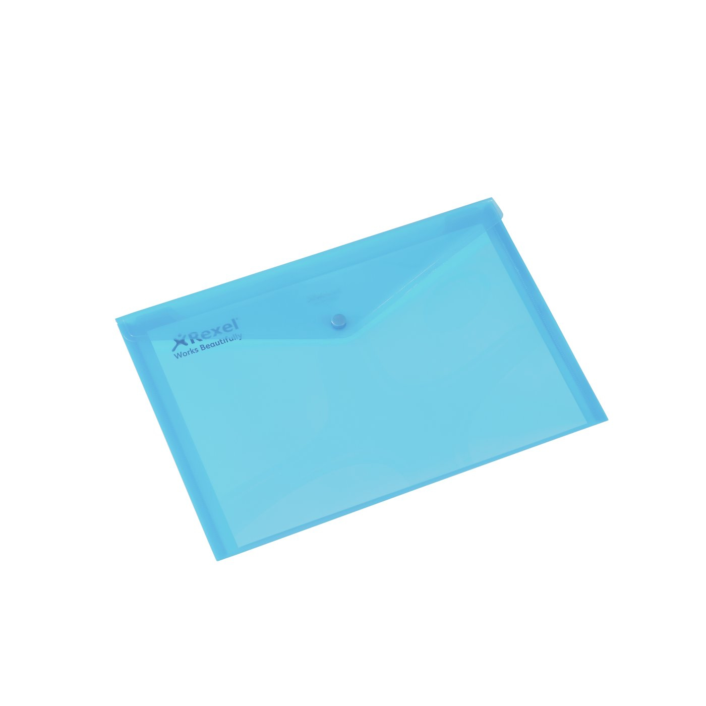 16129bu acco Rexel Polypropylene Carry Wallet A4 Blue  16129bu (pk5) - AD01