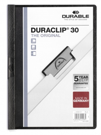 220001 durable Durable Duraclip 30 Report File 3mm A4 Black 220001 (pk25) - AD01