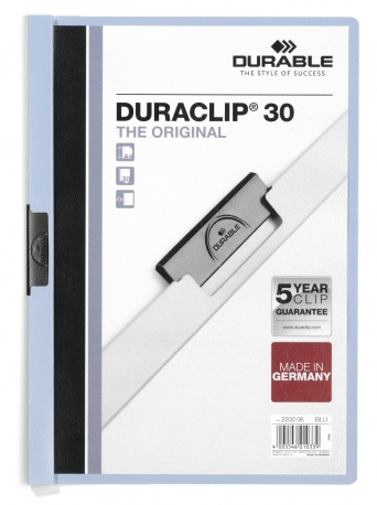 220006 durable Durable Duraclip 30 Report File 3mm A4 Blue 220006 (pk25) - AD01