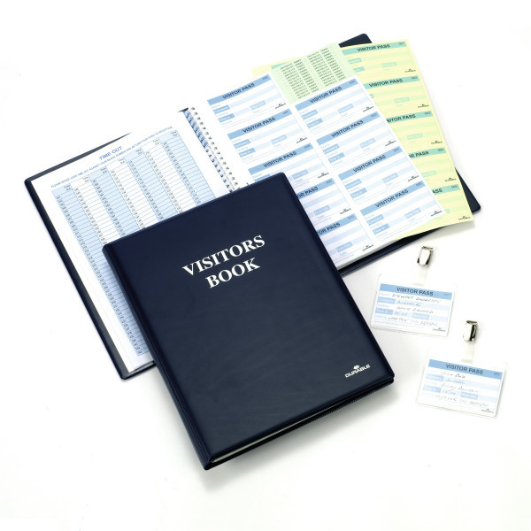 146500 durable Durable Visitor Book 300 With 100 Badge Refill 60x90 146500 - AD01