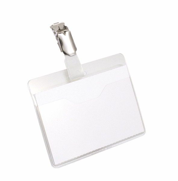 810619 durable Durable Name Badge With Clip 60x90mm Transparent 8106 (pk25) - AD01