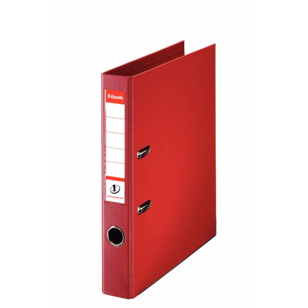 811430 esselte Esselte No1 Lever Arch File Polypropylene A4 50mm Red 811430 - (pk10) - AD01