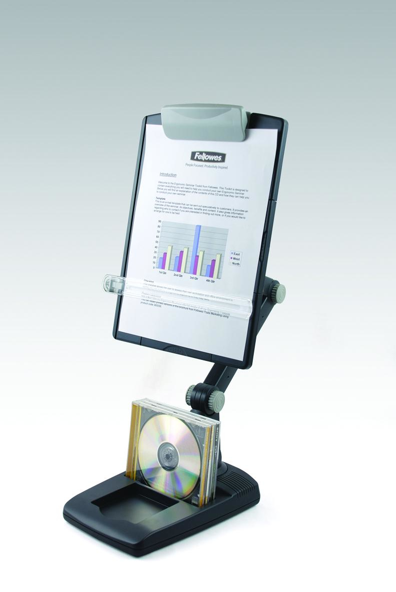 9169801 fellowes Fellowes Flex Arm Weighted Base Copyholder Grey 9169801 - AD01