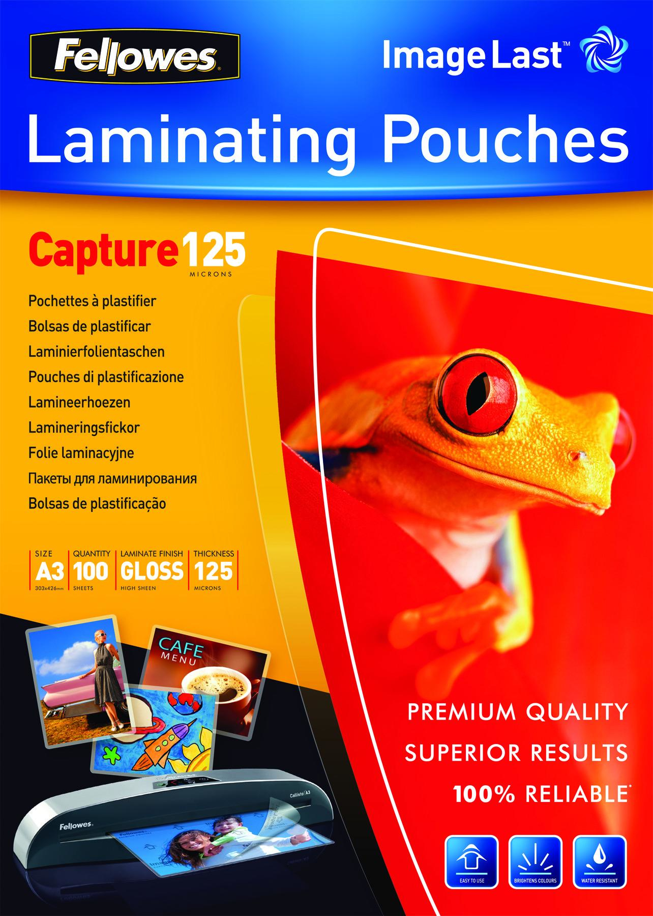 5307506 fellowes Fellowes Laminating Pouch A3 2x125 Micron 5307506 (pk100) - AD01