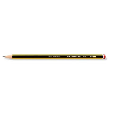 120-2 staedtler Staedtler Noris Hb Pencil 2mm Lead Black Yellow 120-2 - (pk12) - AD01
