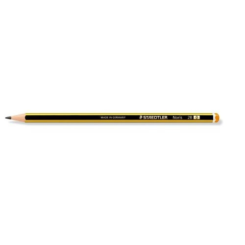 120-0 staedtler Staedtler Noris 2b Pencil 2mm Lead Black Yellow 120-0 - (pk12) - AD01