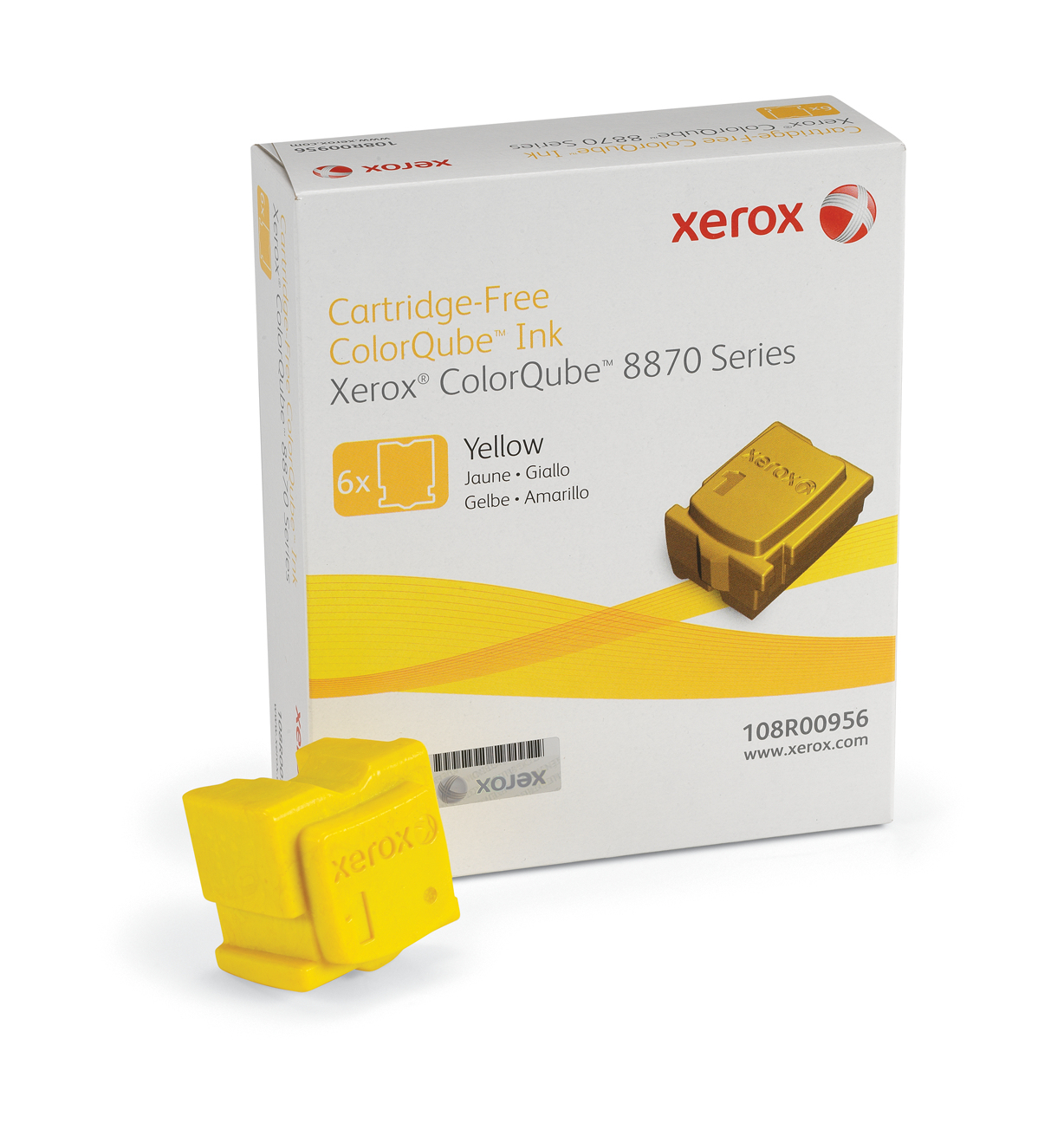 108r00956 xerox Xerox 8870 Yellow 6 Pk Wax Stick - AD01