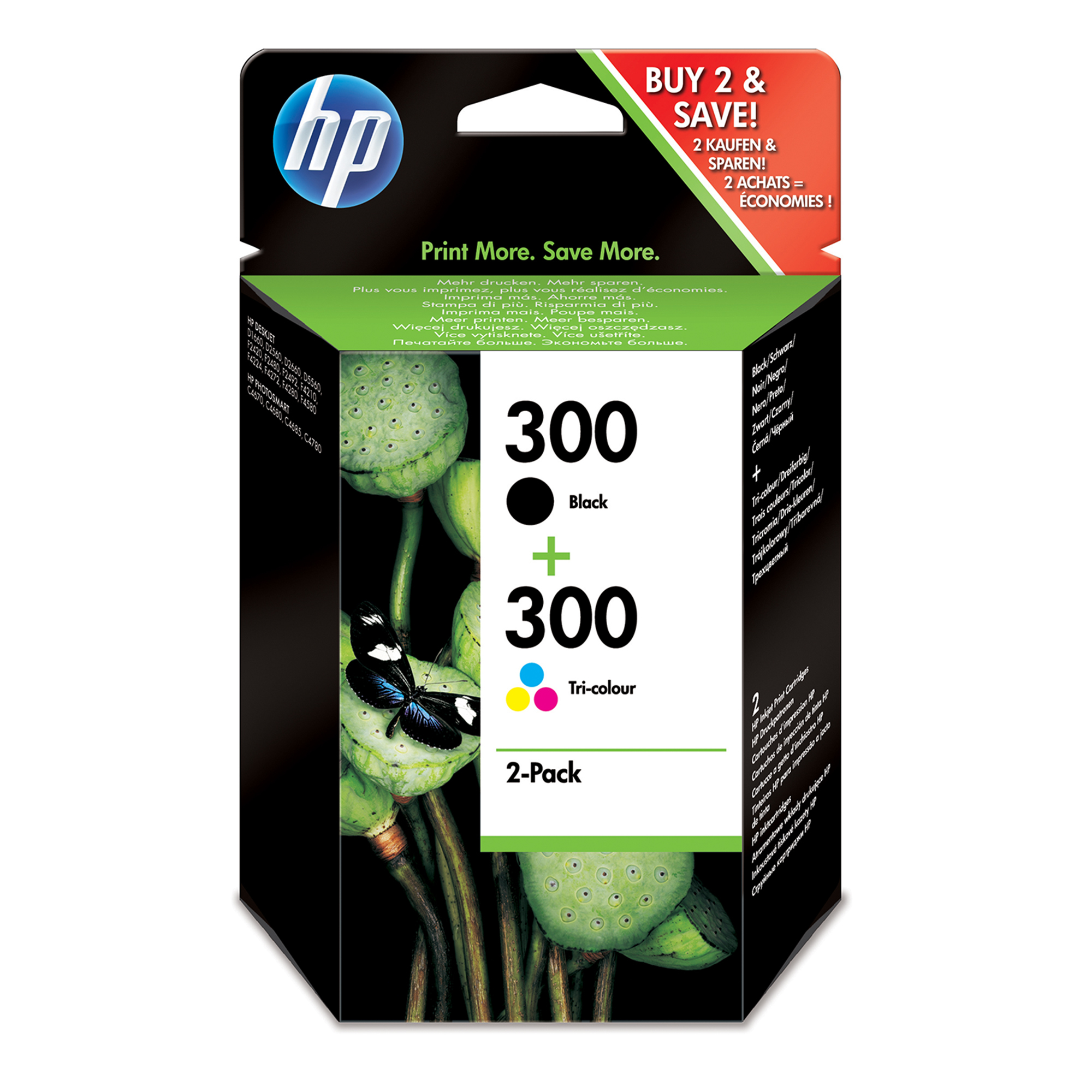 Cn637ee HP Hp 300 Combo Pack Black & Colour - AD01