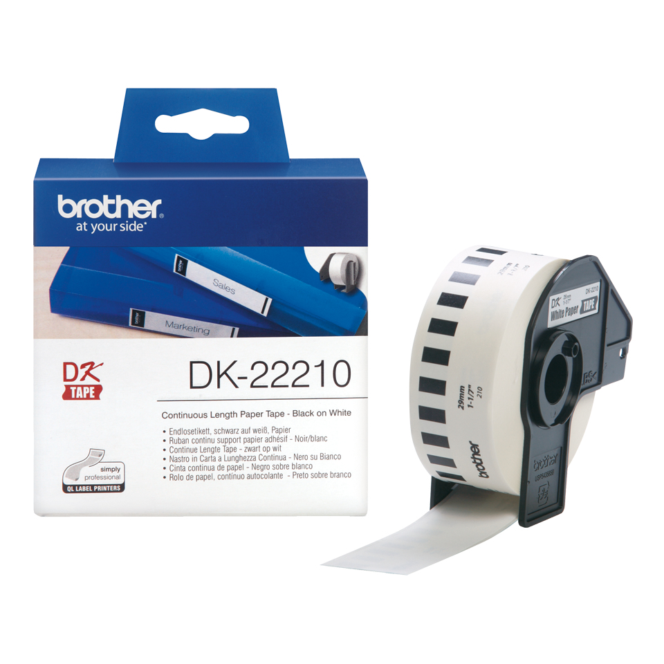 Dk22210 P-touch Tape Paper 29mmx30.48m - WC01