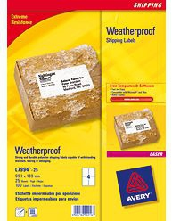 L7994-25 avery Avery Weatherproof Ship Label 99x139mm L7994-25 (100 Labels) - AD01