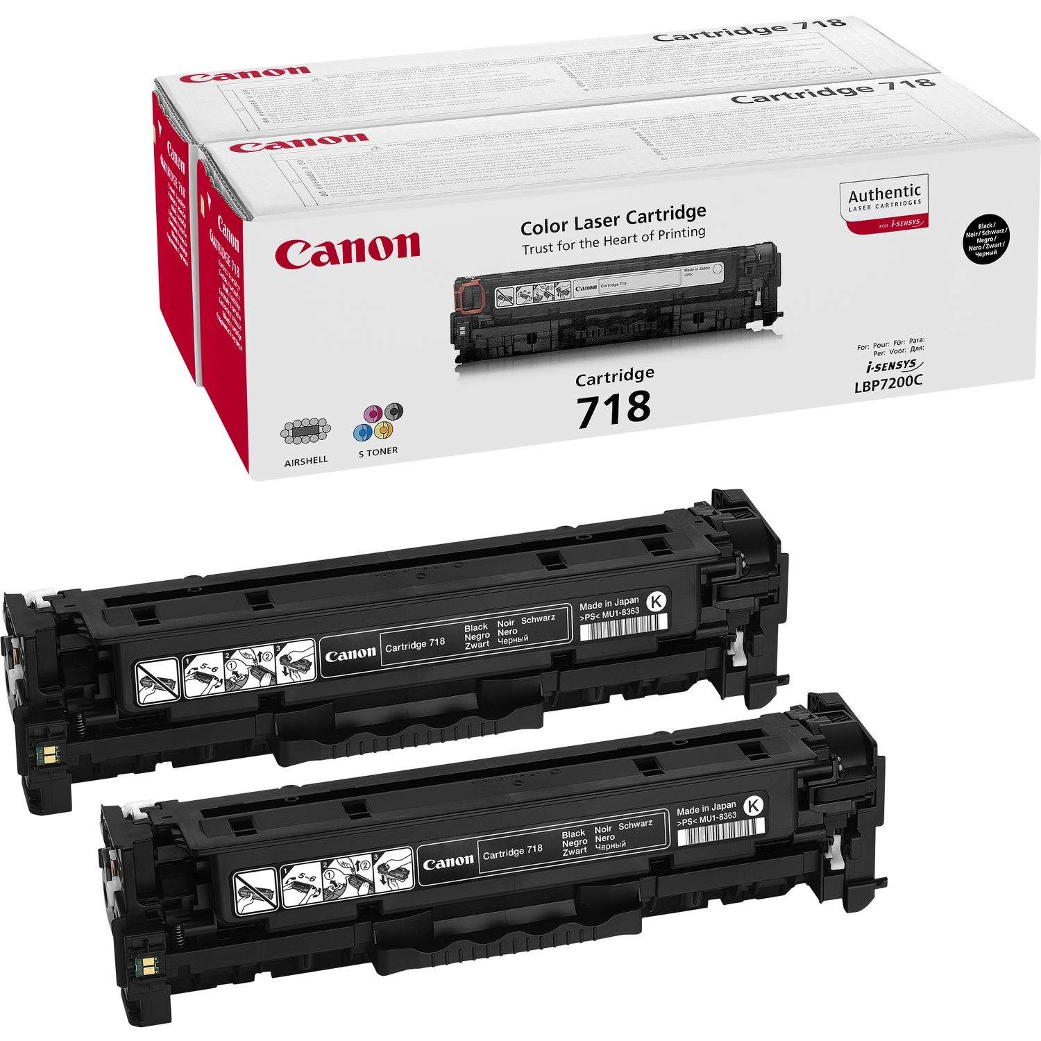 2662b005 Canon 718bk Twin Pack - AD01