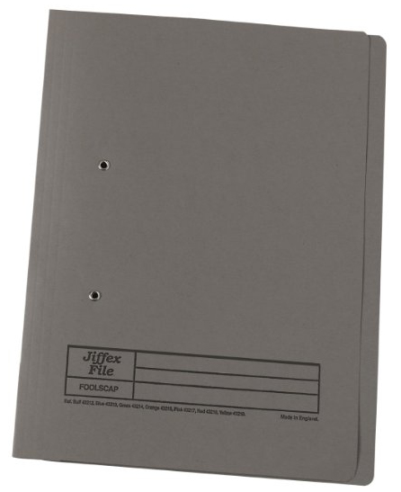 43215east acco Rexel Jiffex Transfer File Foolscap 32mm Grey 43215east - (pk50) - AD01