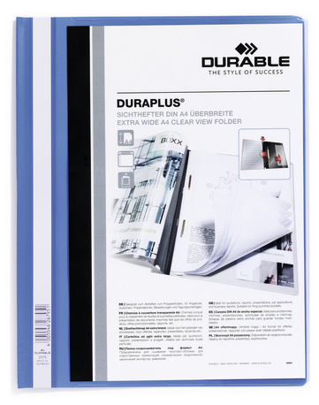 257906 durable Durable Duraplus Report Folder Exwide A4 Blue 257906 (pk25) - AD01