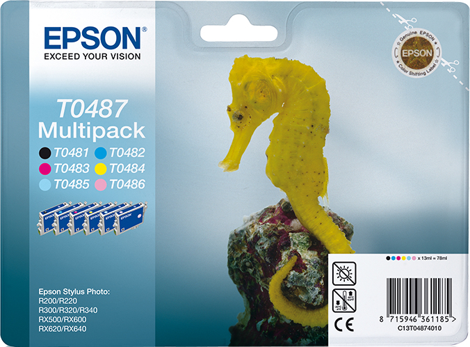 C13t04874010 epson 6 Pack Retail Solut R200/300/rx500 - AD01
