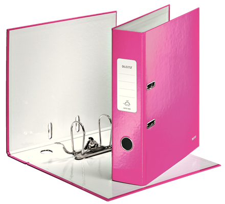 10050023 esselte Leitz Wow Lever Arch File A4 85mm Pink 10050023 - (pk10) - AD01