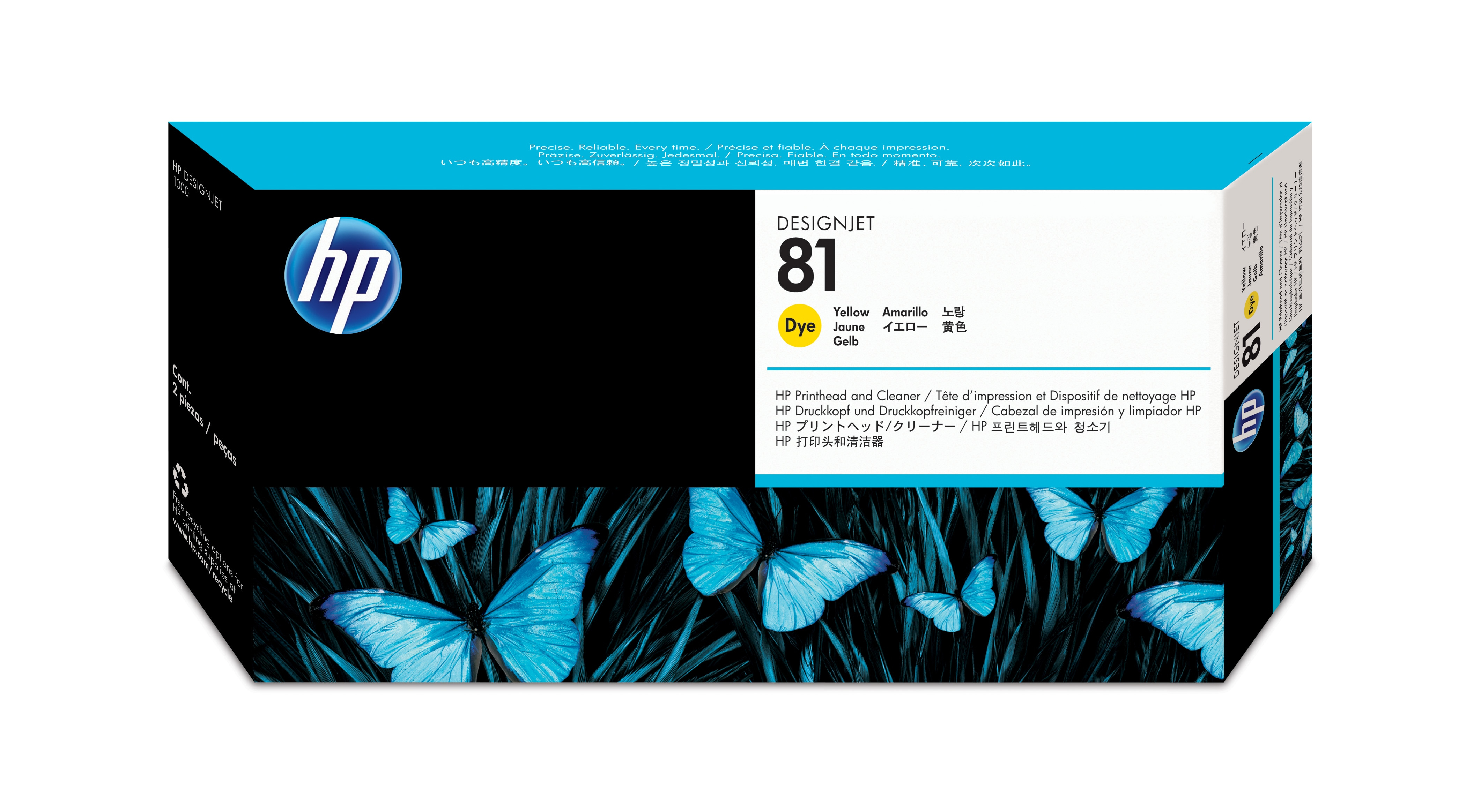 C4953a HP No. 81 Dye Ink Printhead And Cleaner - Yellow