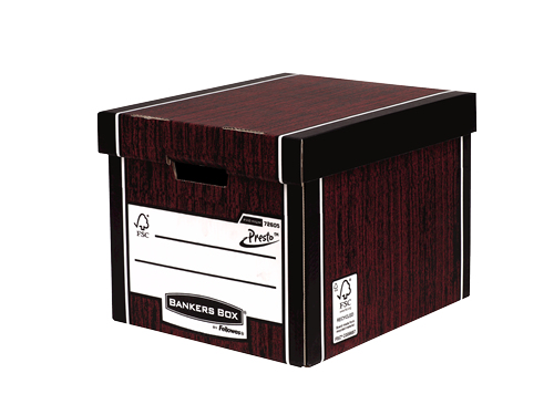 7260501 fellowes Fellowes Premium Presto Tall Box Woodgrain 7260501 - (pk10) - AD01