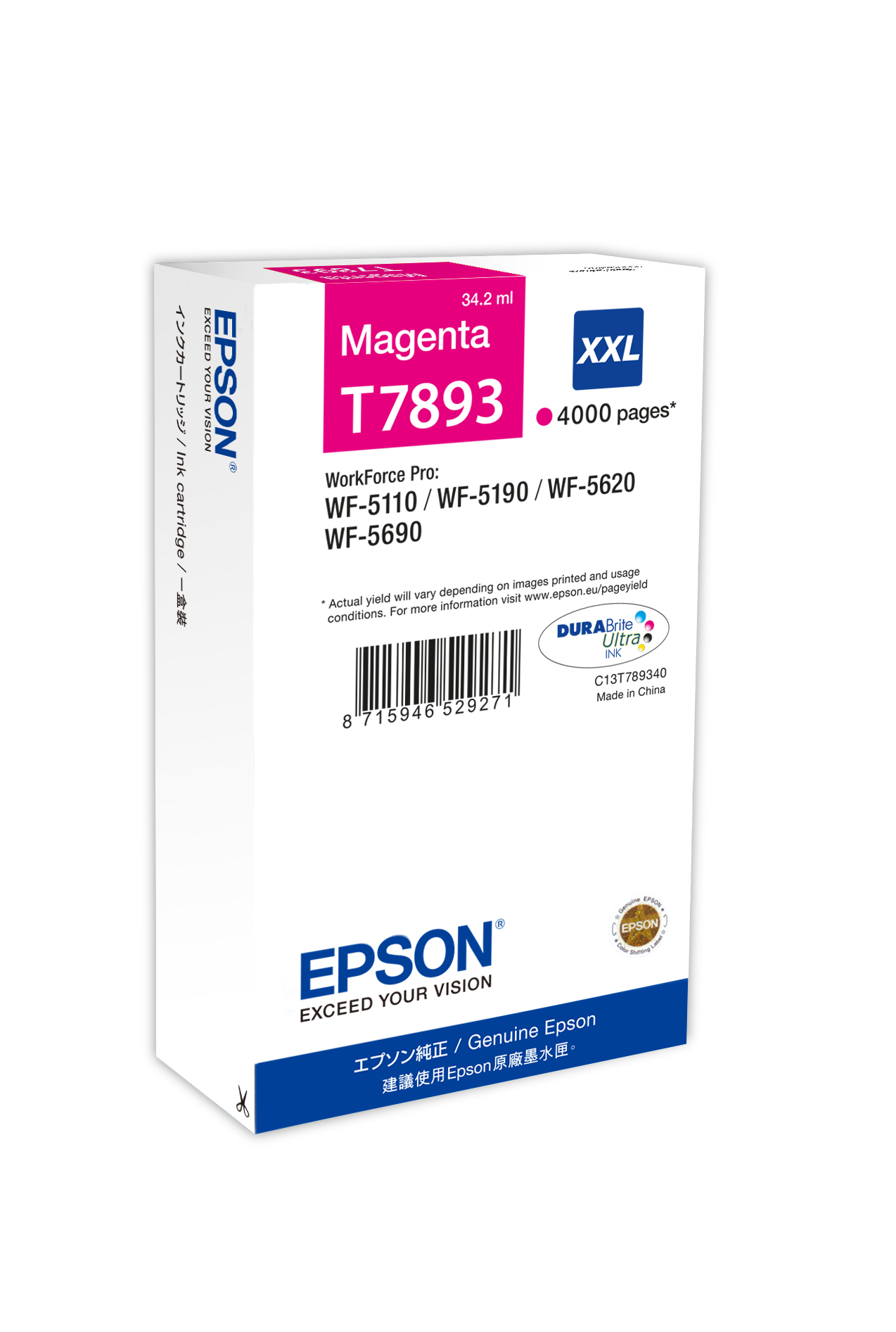 C13t789340 epson Wf5110dw/5190/5620 Magent Ink Cart - AD01