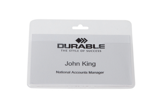 999108008 durable Durable Name Badge Without Clip 60x90mm 999108008 (pk50) - AD01