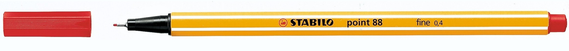 88/40 stabilo Stabilo Point 88 Pen Fineliner 0.4mm Red 88/40 - (pk10) - AD01