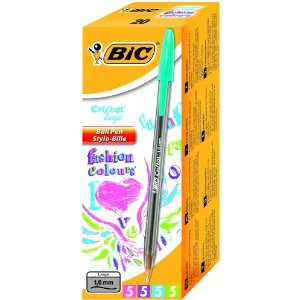 895793 bic Bic Cristal Fashion Ball Pen Asstd 895793 (pk20) - AD01