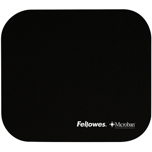 5933907 fellowes Value Fellowes Mouse Pad W/ Microban Protection Blk 5933907 - AD01