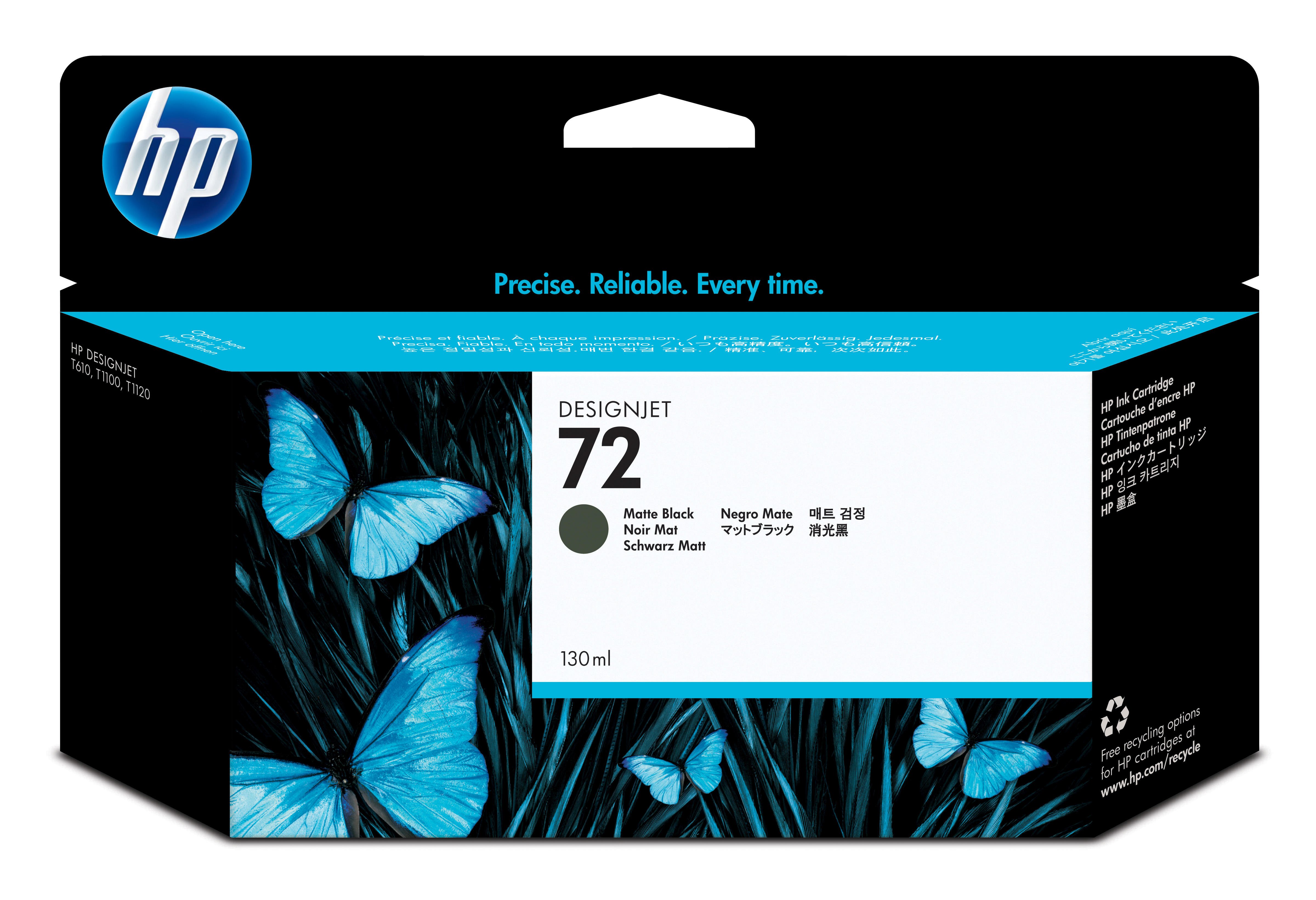 C9403a HP Hp No.72 Matte Black Ink 130ml - AD01