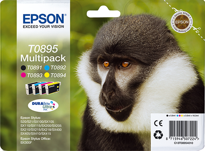 C13t08954010 epson S20/sx100 Kcmy Multipack - AD01