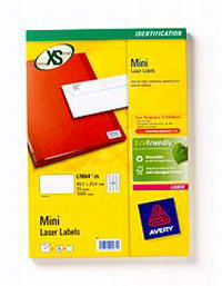 L7654-25 avery Avery Mini Laser Labels 45.7x25.4mm L7654-25 (1000 Labels) - AD01
