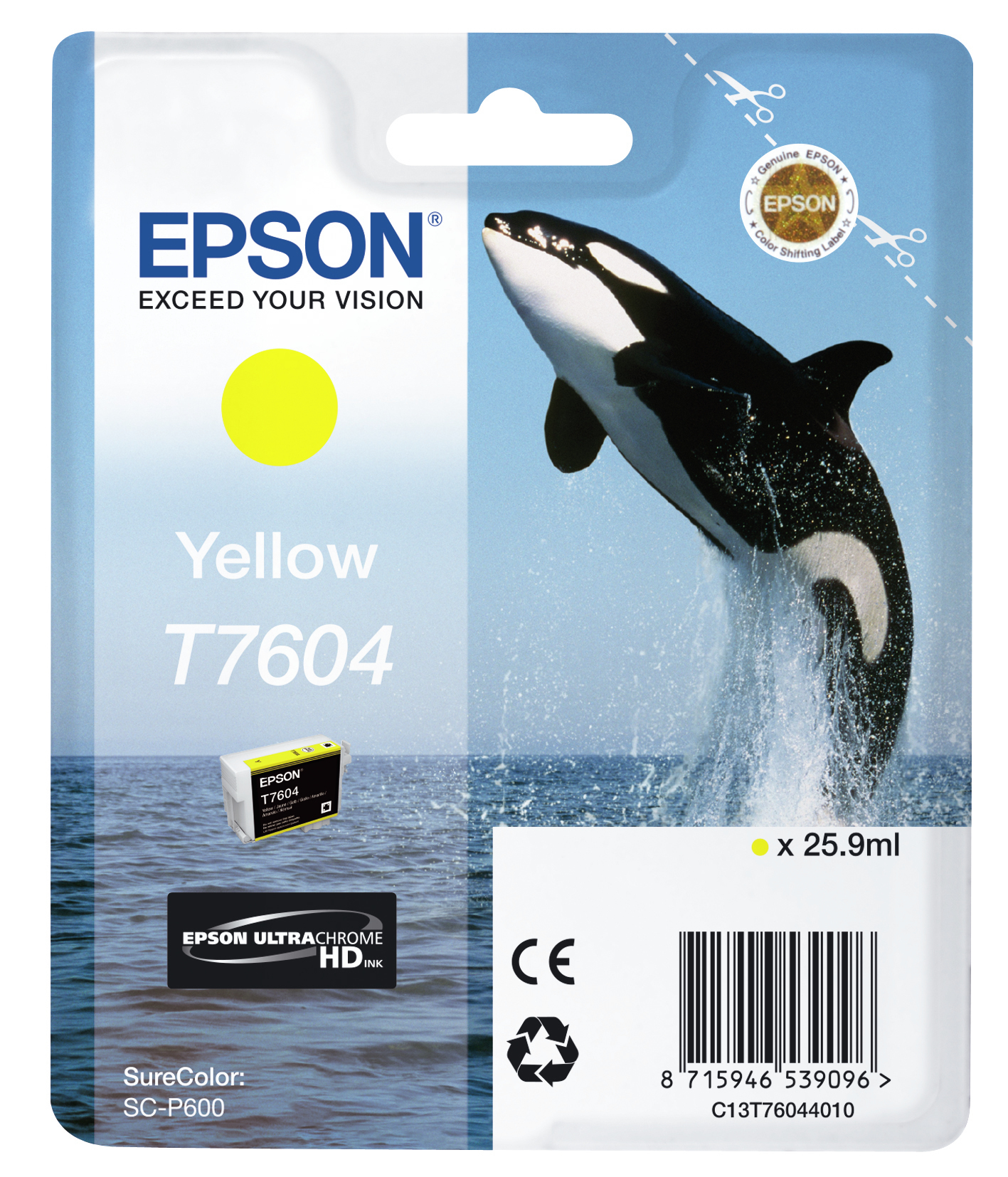 C13t76044010 epson T7604 Yellow Ink 26ml - AD01