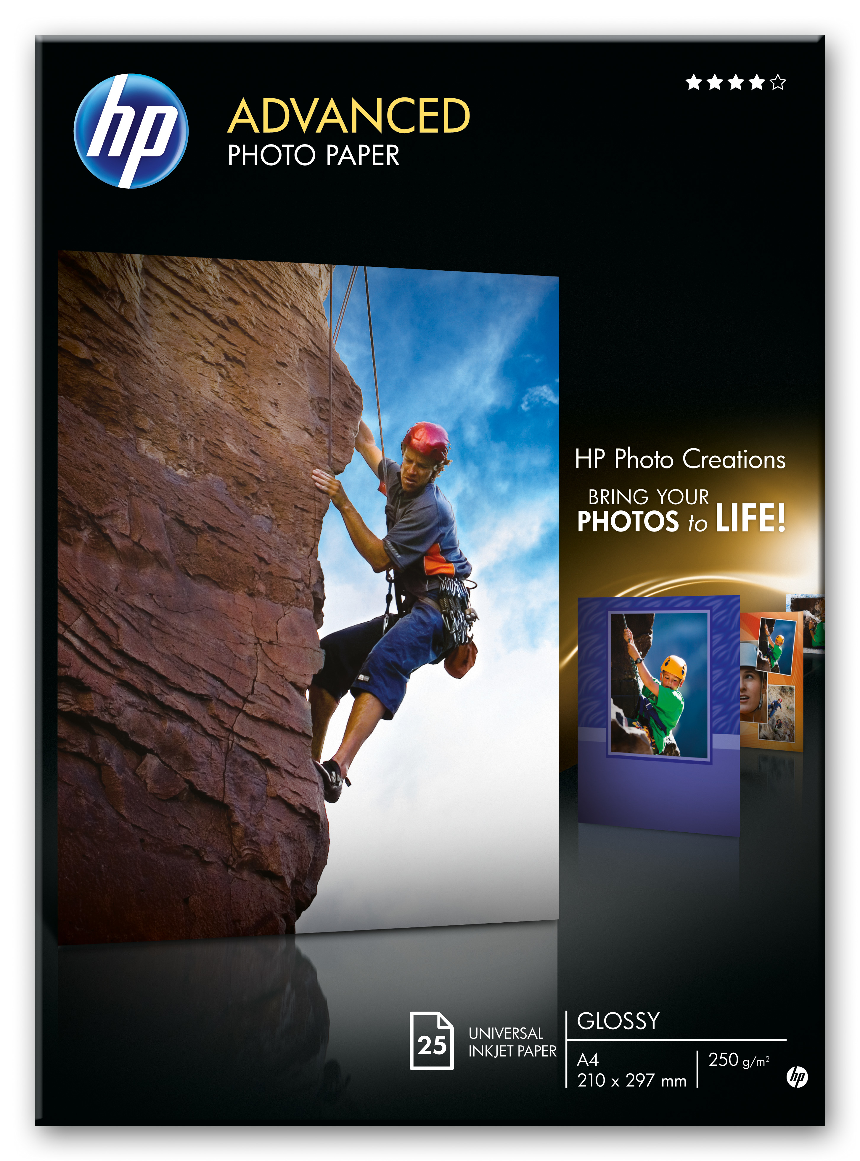 Q5456A Hp HP Advanced Glossy Photo Paper - Glossy Photo Paper - A4 (210 X 297 Mm) - 25 Sheet(s) - C2000