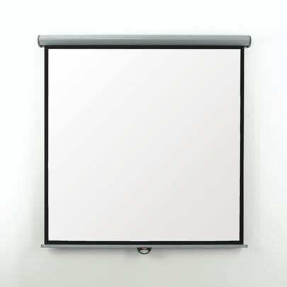 EMS18W Metroplan Eyeline Screen - Manual - Square Format - 180cm (w) - Wall/ceiling Screen - Easy To Install With The Unique 'click On - Click Off' Fixing Brackets. - C2000