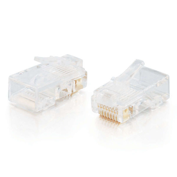 88121 C2g RJ45 Cat5 8x8 Modular Plug For Flat Stranded Cable - 25pk - C2000