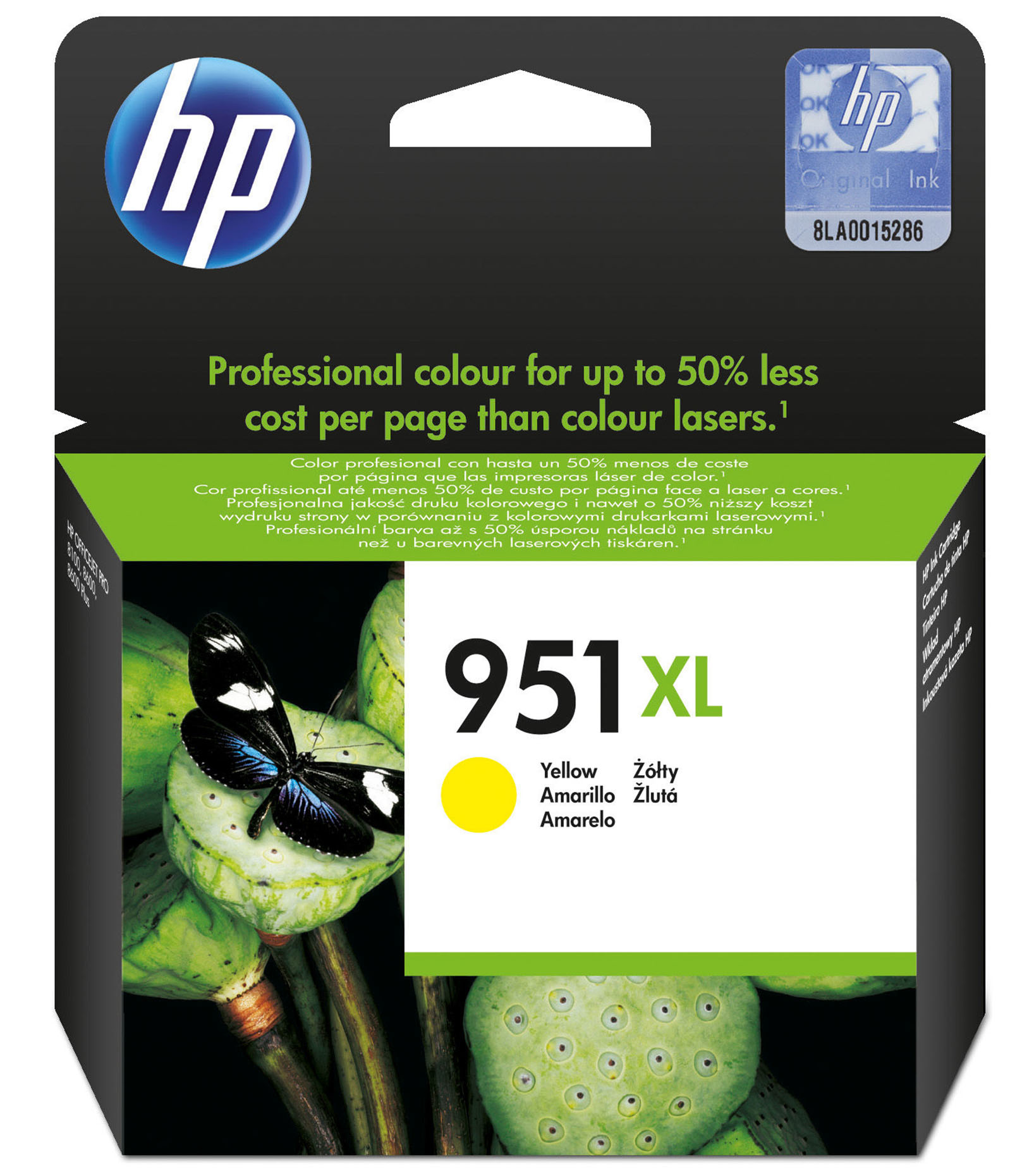 CN048AE#BGY Hp HP 951XL - High Capacity - Yellow - Original - Ink Cartridge - For Officejet Pro 251dw, 276dw, 8100, 8600, 8600 N911a, 8610, 8620, 8630 - C2000
