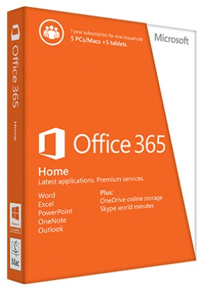 6GQ-00020 Microsoft Office 365 Home Premium 32-bit/x64 English Subscr 1YR Eurozone Medialess - C2000
