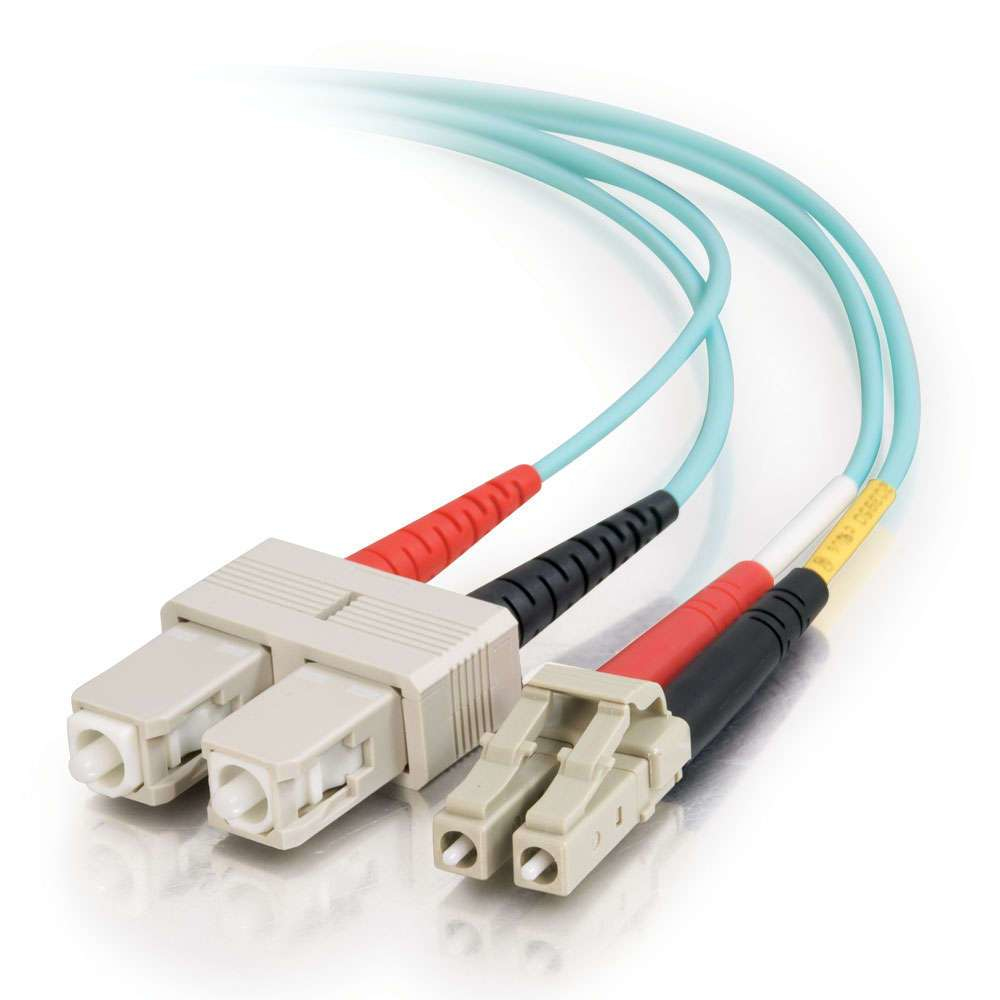 85531 C2g C2G LC-SC 10Gb 50/125 OM3 Duplex Multimode PVC Fiber Optic Cable (LSZH) - Network Cable - LC Multi-mode (M) - SC Multi-mode (M) - 1 M - Fibre Optic - 50 / 125 Micron - OM3 - Halogen - C2000