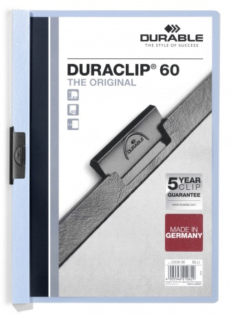 220906 durable Durable Duraclip 60 Report File 6mm A4 Blue 220906 (pk25) - AD01