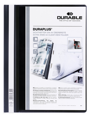 257901 durable Durable Duraplus Report Folder Exwide A4 Black 257901 (pk25) - AD01