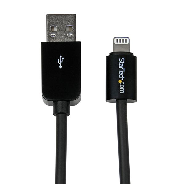 Usblt2mb Startech.com (2m) Long Black Apple 8-pin Lightning Connector To Usb Cable For Iphone Ipod Ipad - Ent01