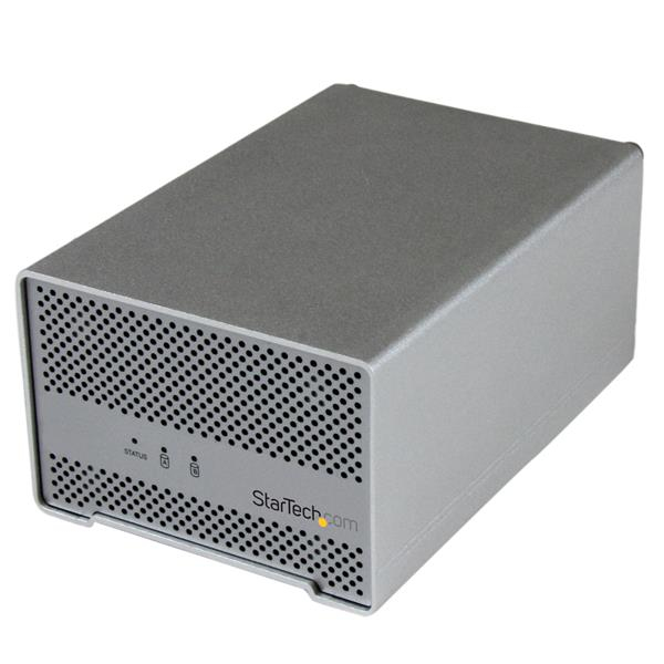 S252smtb3 Startech.com Thunderbolt Hard Drive Enclosure With Thunderbolt Cable - Dual Bay 2.5 Hdd Enclosure With Fan - Ent01