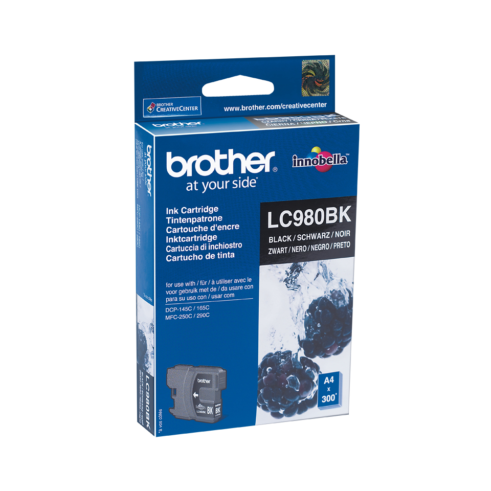 Lc980bk brother Mfc250c/290c Black Ink 300pgs - AD01