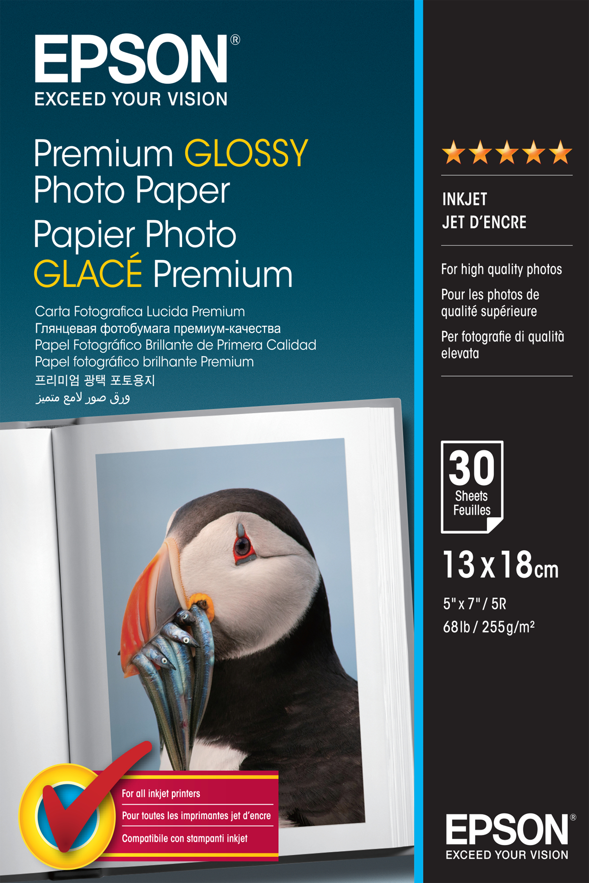 C13s042154 epson Premium Glossy Photo 13x18 30sheets - AD01